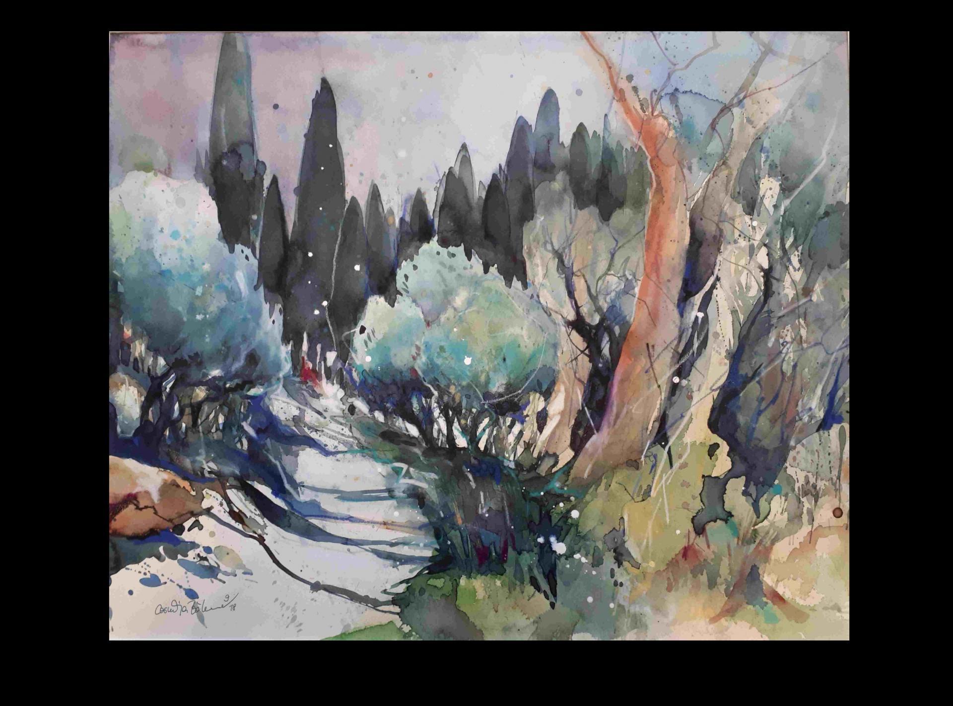 Olivenbäume bei San Miniato (Toskana)