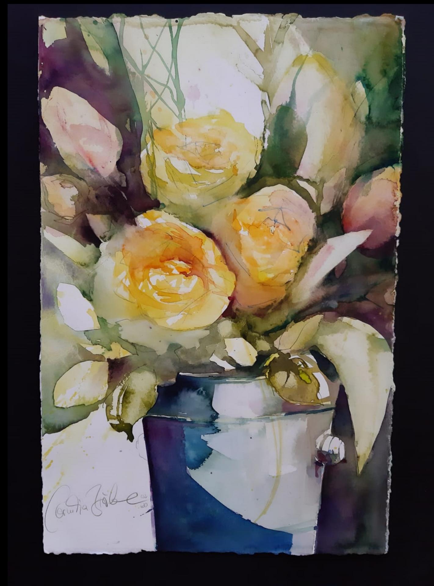 Tulpen mit Rosen
