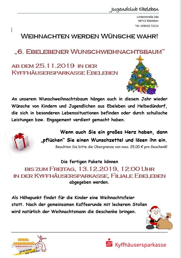 Wunschweihnachtsbaum 2019