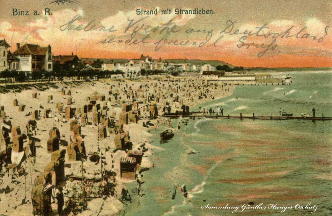 Binz a. R. Strand mit Strandleben