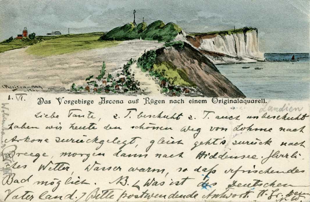 Das Vorgebirge Arcona auf Rügen  nach einem Originalaquarell