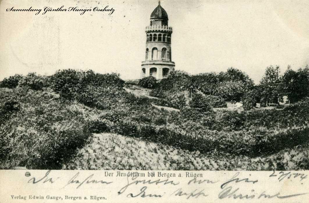 Der Arndtturm bei Bergen a. Rügen