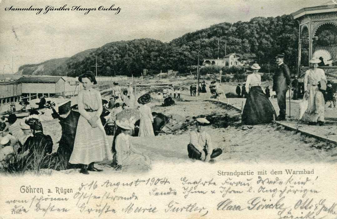Göhren a. Rügen Strandpartie mit dem Warmbad