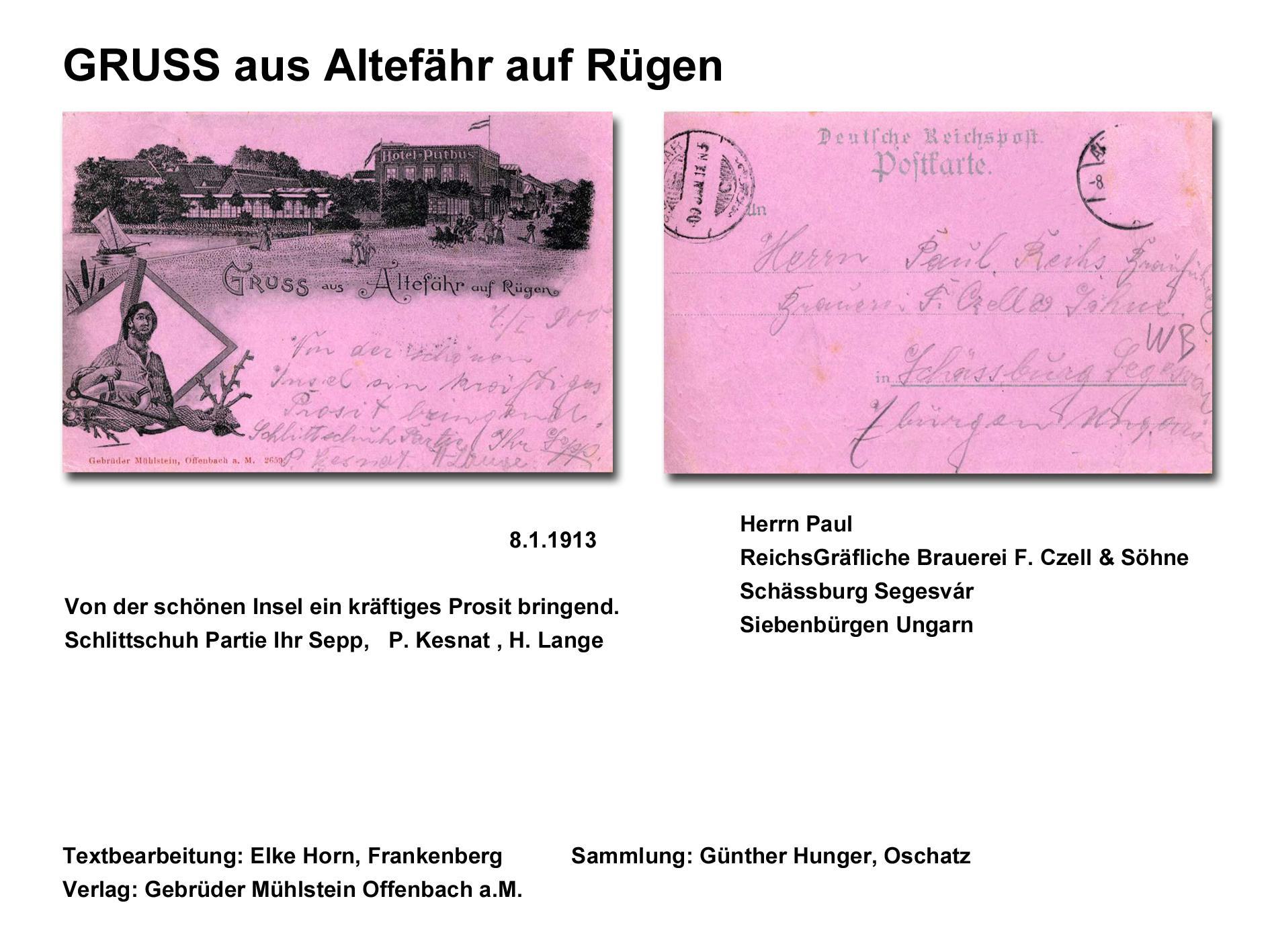 GRUSS aus Altefähr auf Rügen