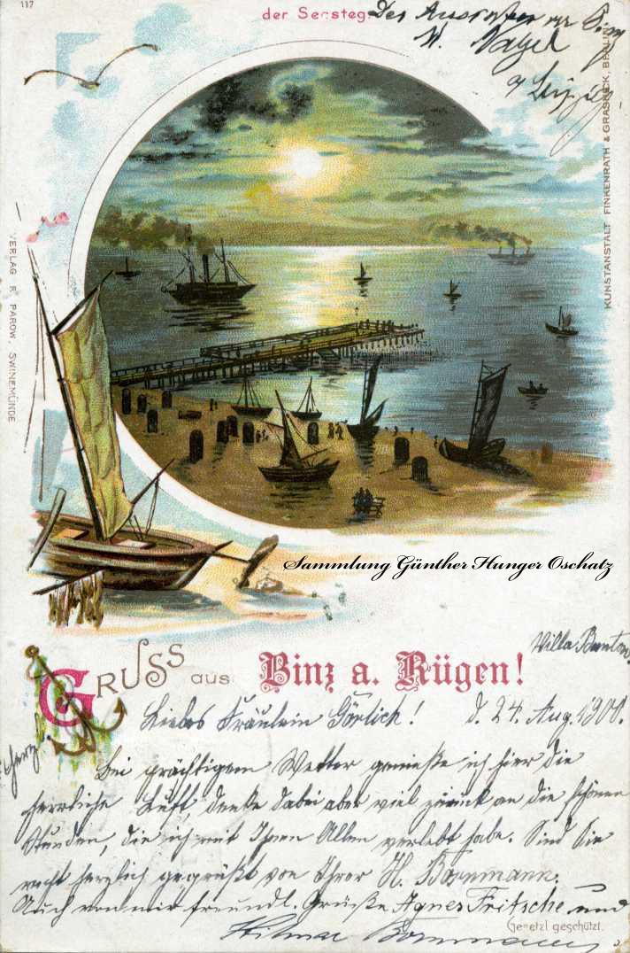 Gruss aus Binz a. Rügen Der Seesteg