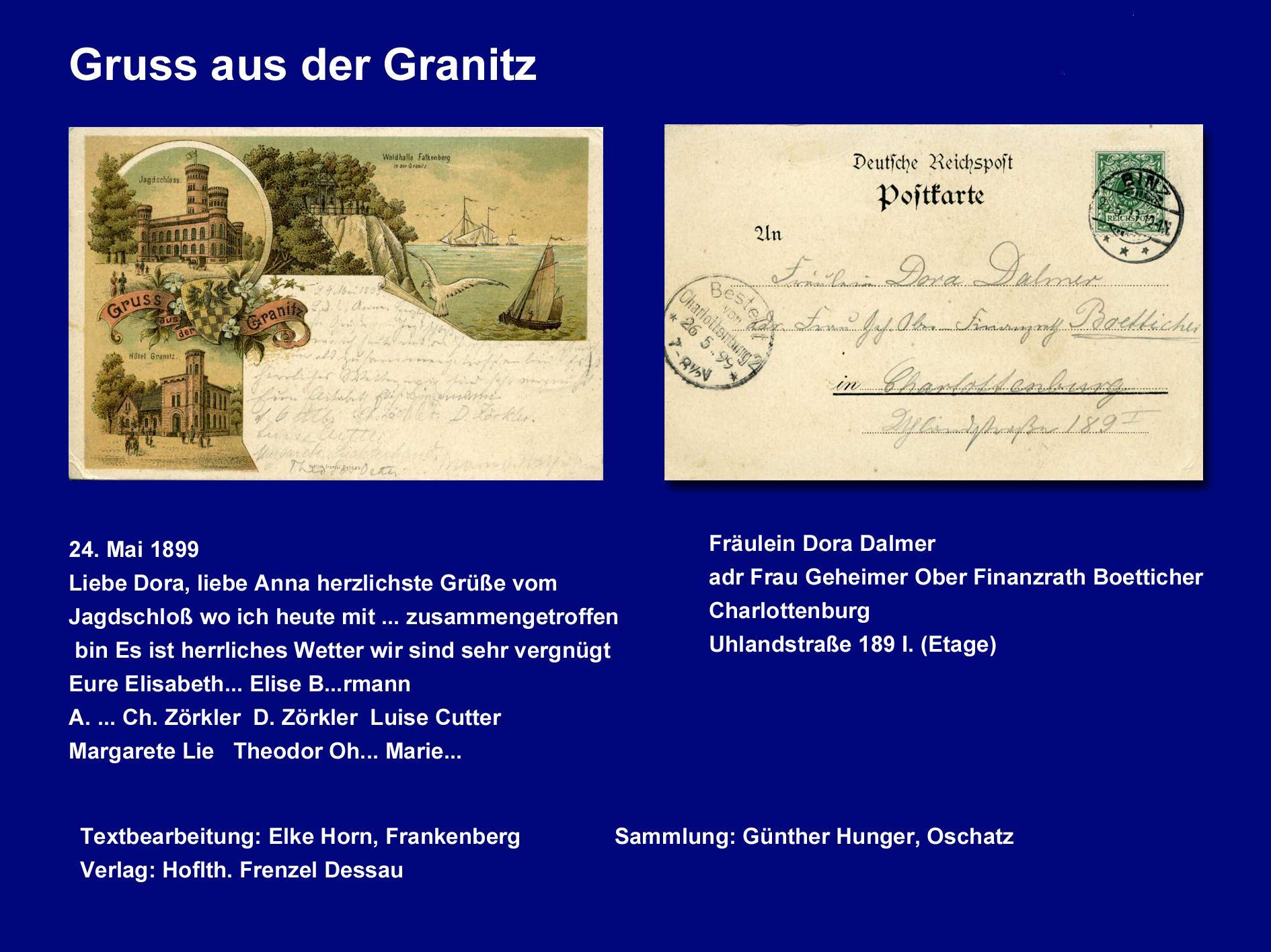 Gruss aus der Granitz 1899