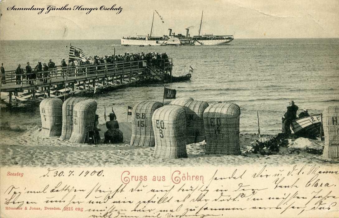 Gruss aus Göhren 1900