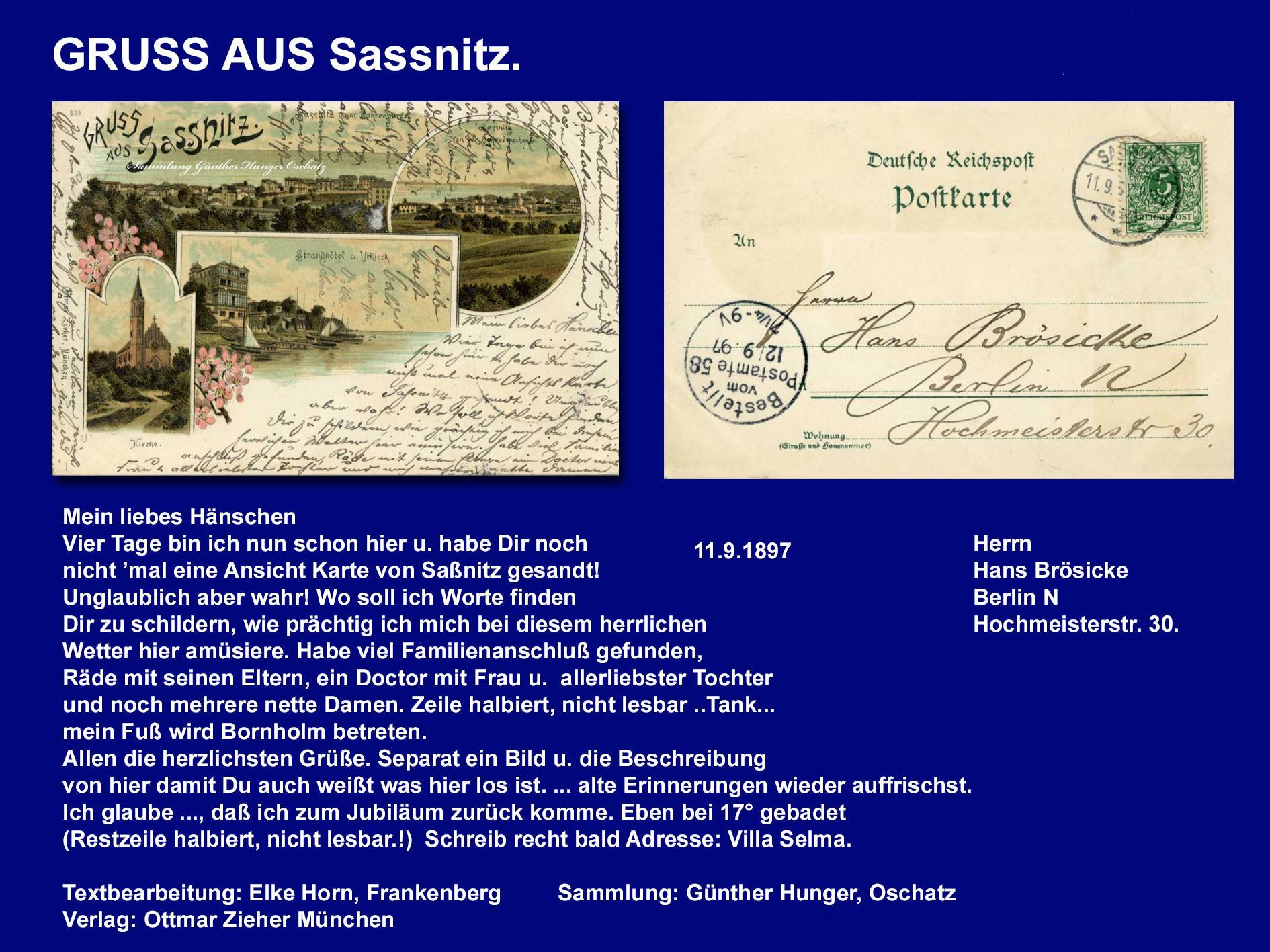 GRUSS AUS Sassnitz.