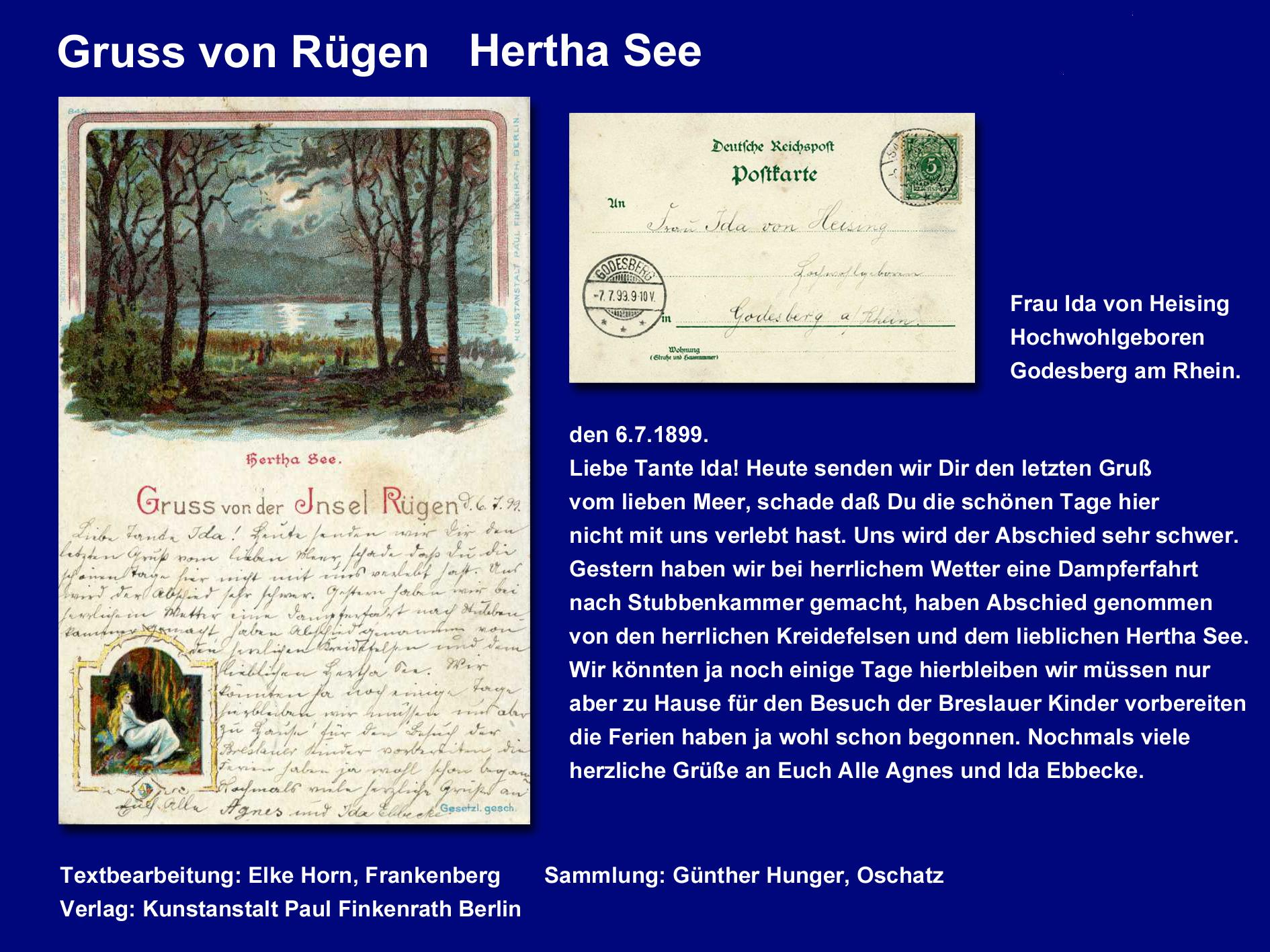 Gruss von der Insel Rügen Hertha See