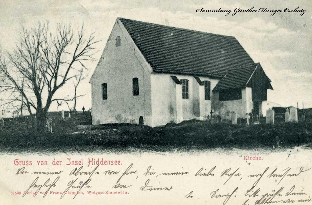 Gruss von Insel Hiddensee Kirche