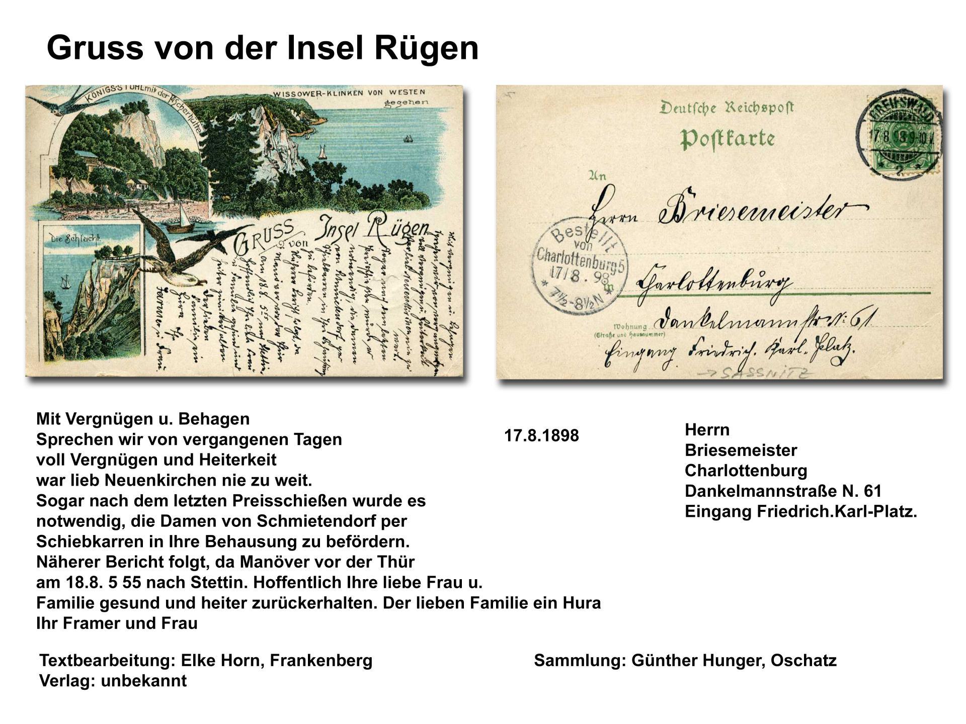 Gruss von Insel Rügen