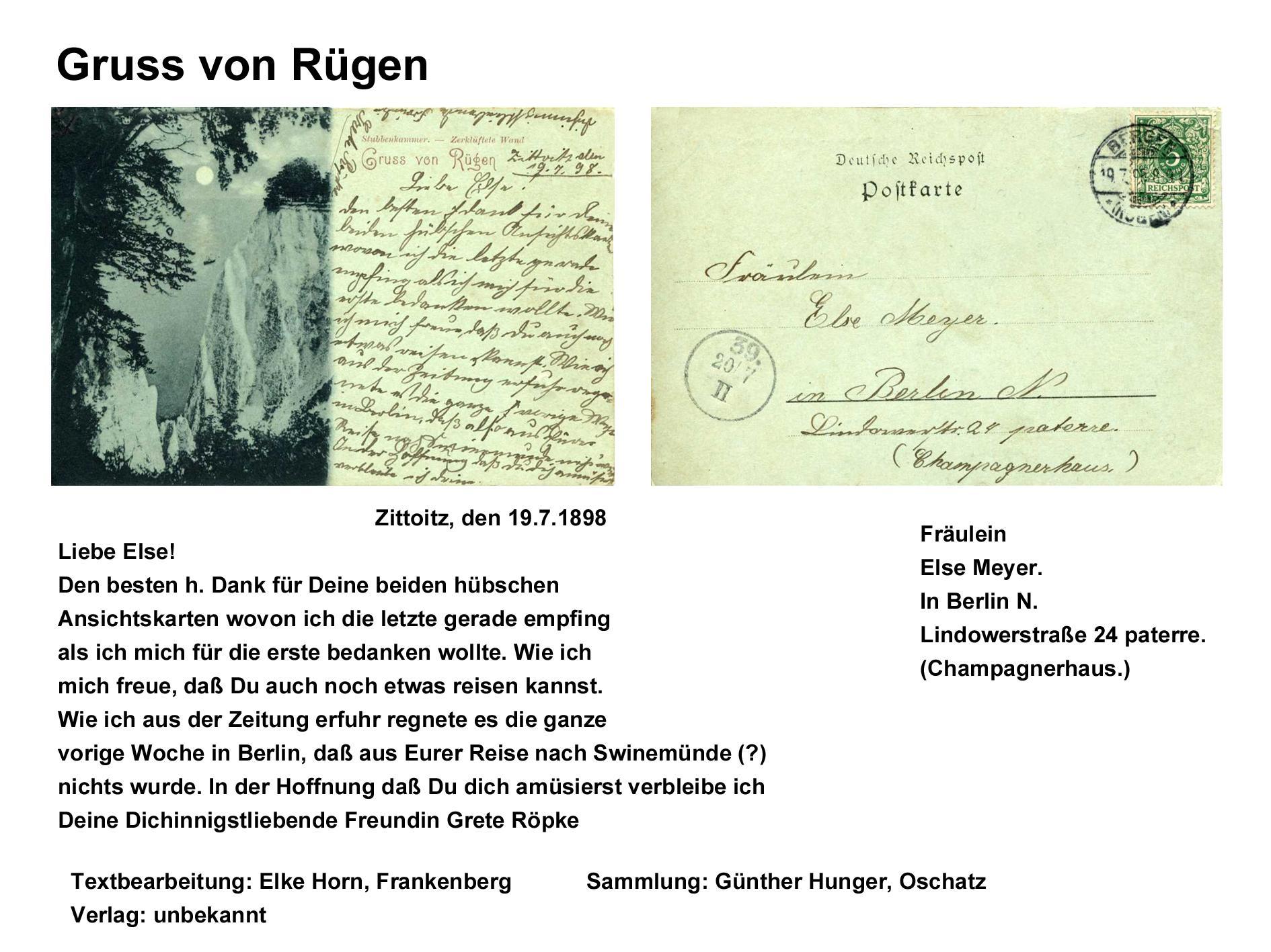 Gruss von Rügen 1898