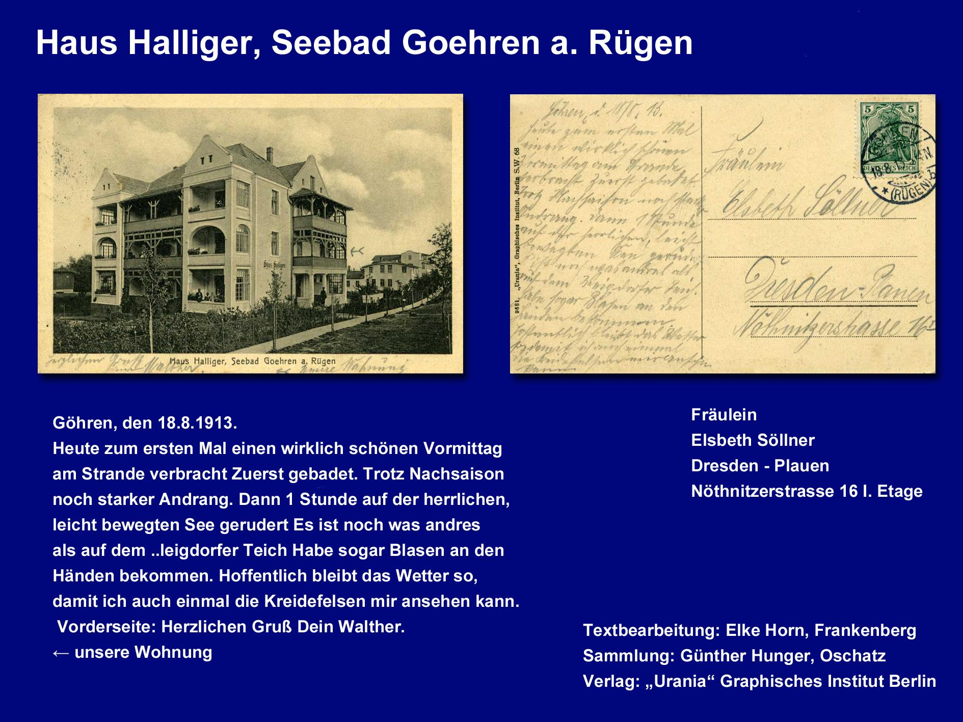 Haus Halliger, Seebad Goehren