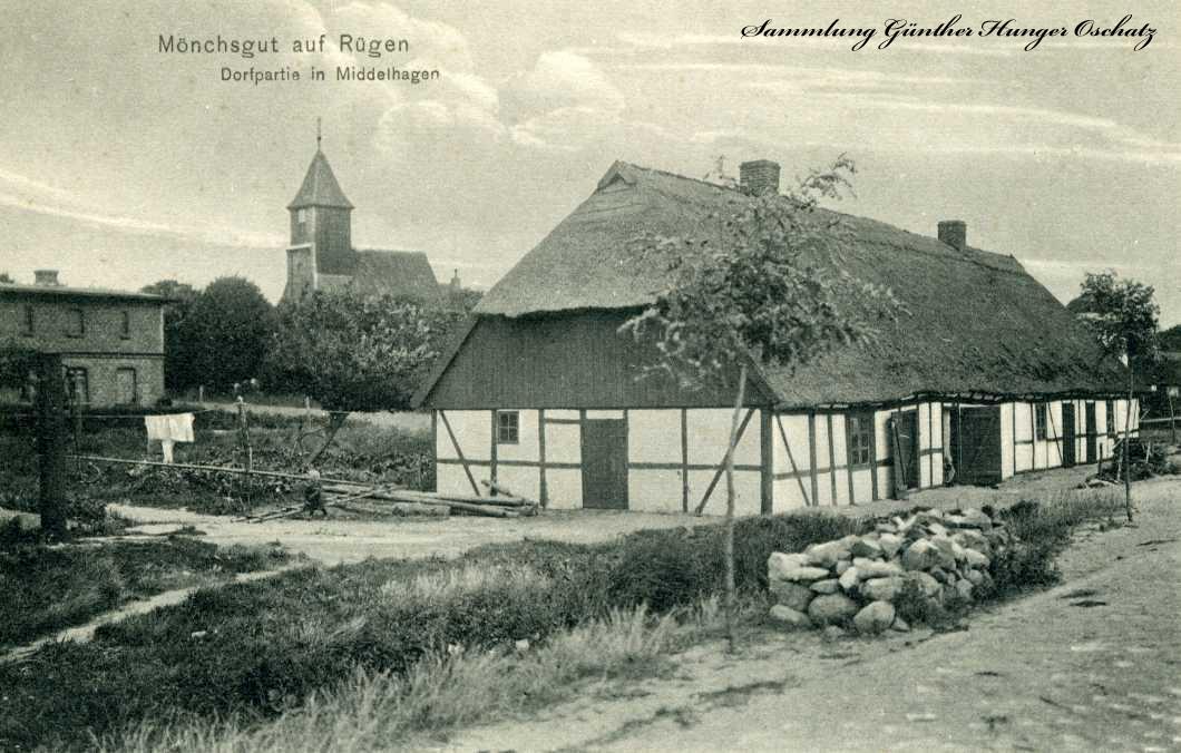 Mönchsgut auf Rügen Dorfpartie in Middelhagen