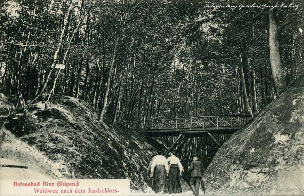 Ostseebad Binz Waldweg nach dem Jagdschloss