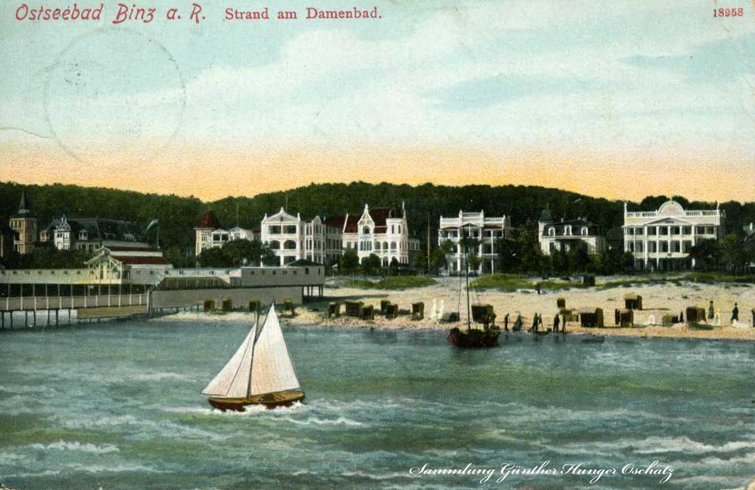 Ostseebad Binz a. R. Strand am Damenbad