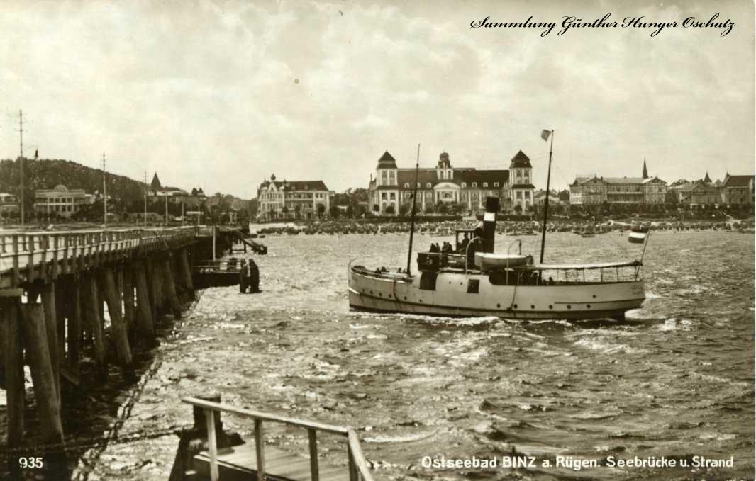 Ostseebad Binz a. Rügen Seebrücke u. Strand