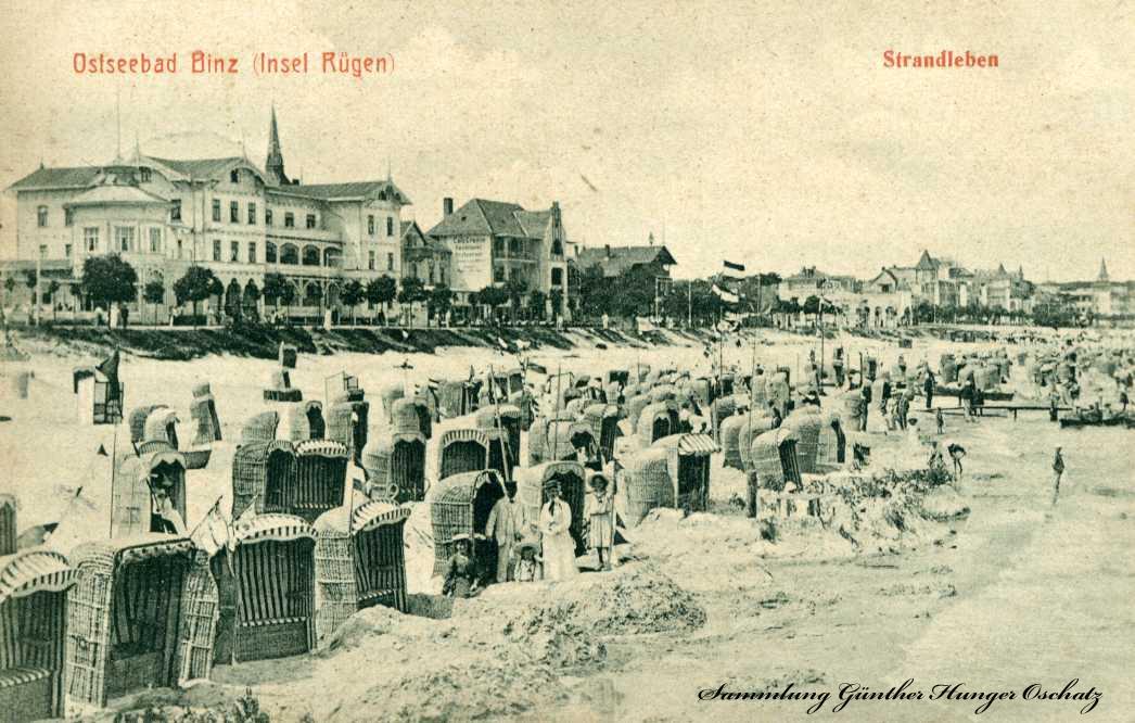 Ostseebad Binz Insel Rügen Strandleben