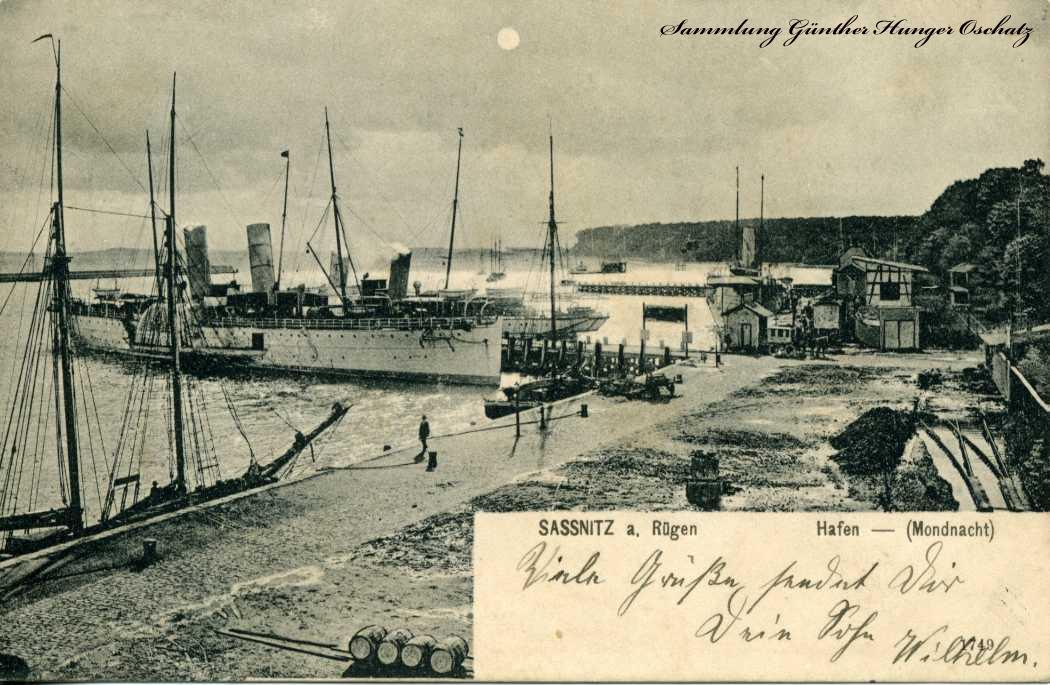 Sassnitz a. Rügen Hafen Mondnacht