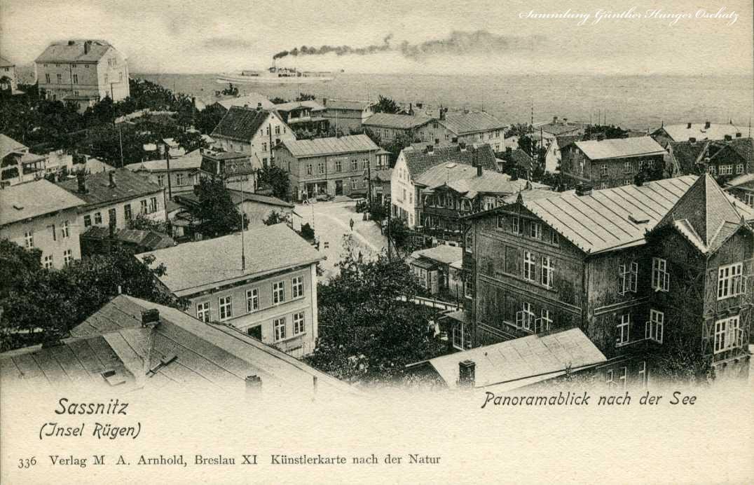 Sassnitz Insel Rügen Panoramablick nach der See
