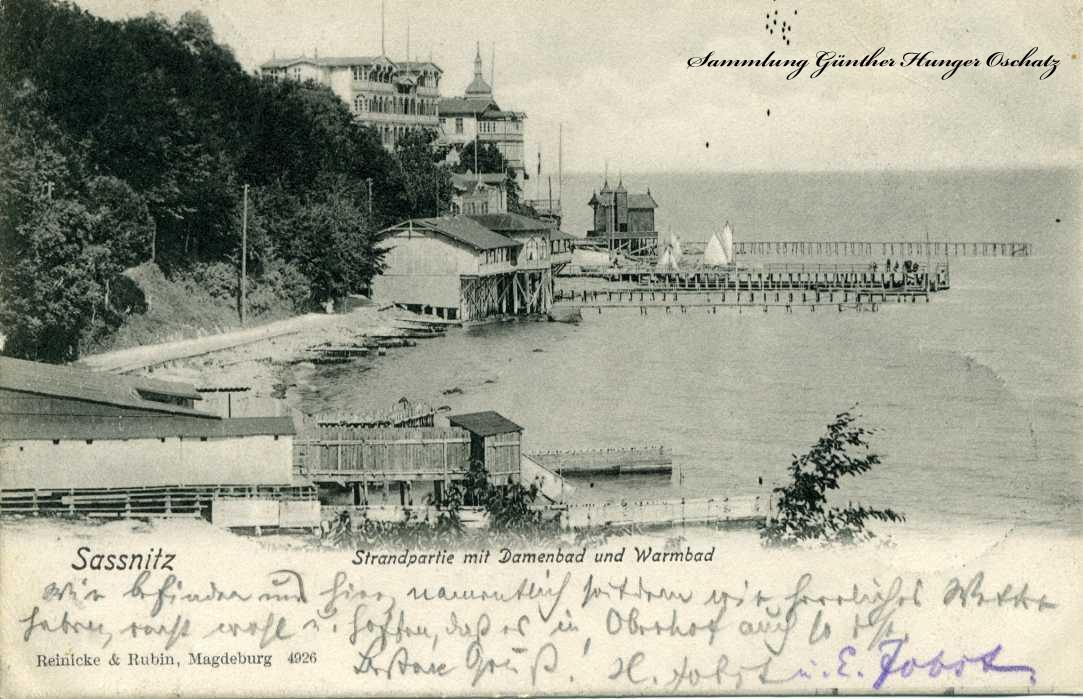 Sassnitz Strandpartie mit Damenbad und Warmbad
