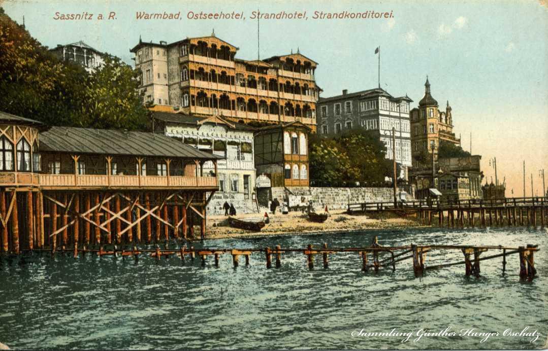 Sassnitz Warmbad Ostseehotel Strandhotel Strandkonditorei