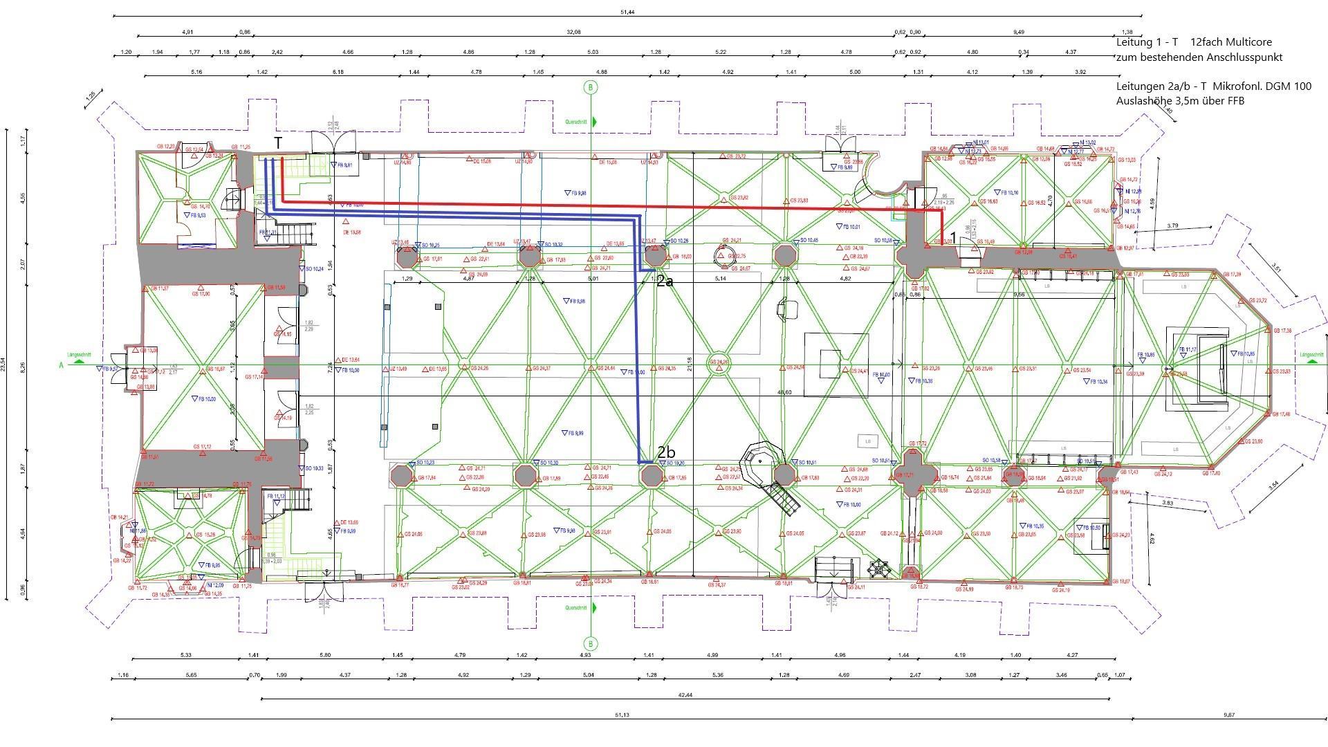 Planung der Kabelverläufe, abgestimmt zwischen Bejamin Dippel und Andreas Thomeczek.