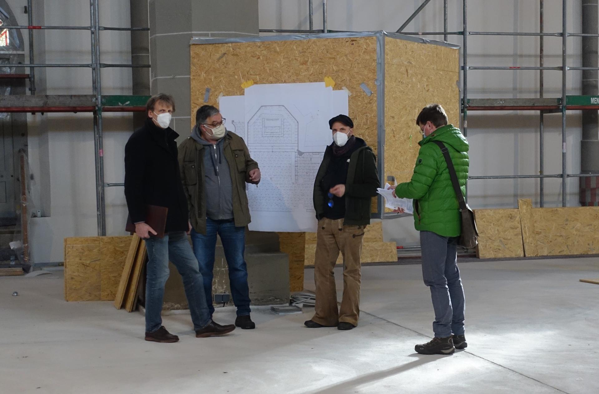 Henning Bartels, kommissarischer Leiter des ABK, mit Frank Wagner, Matthias Fixl und Michael Täubert.