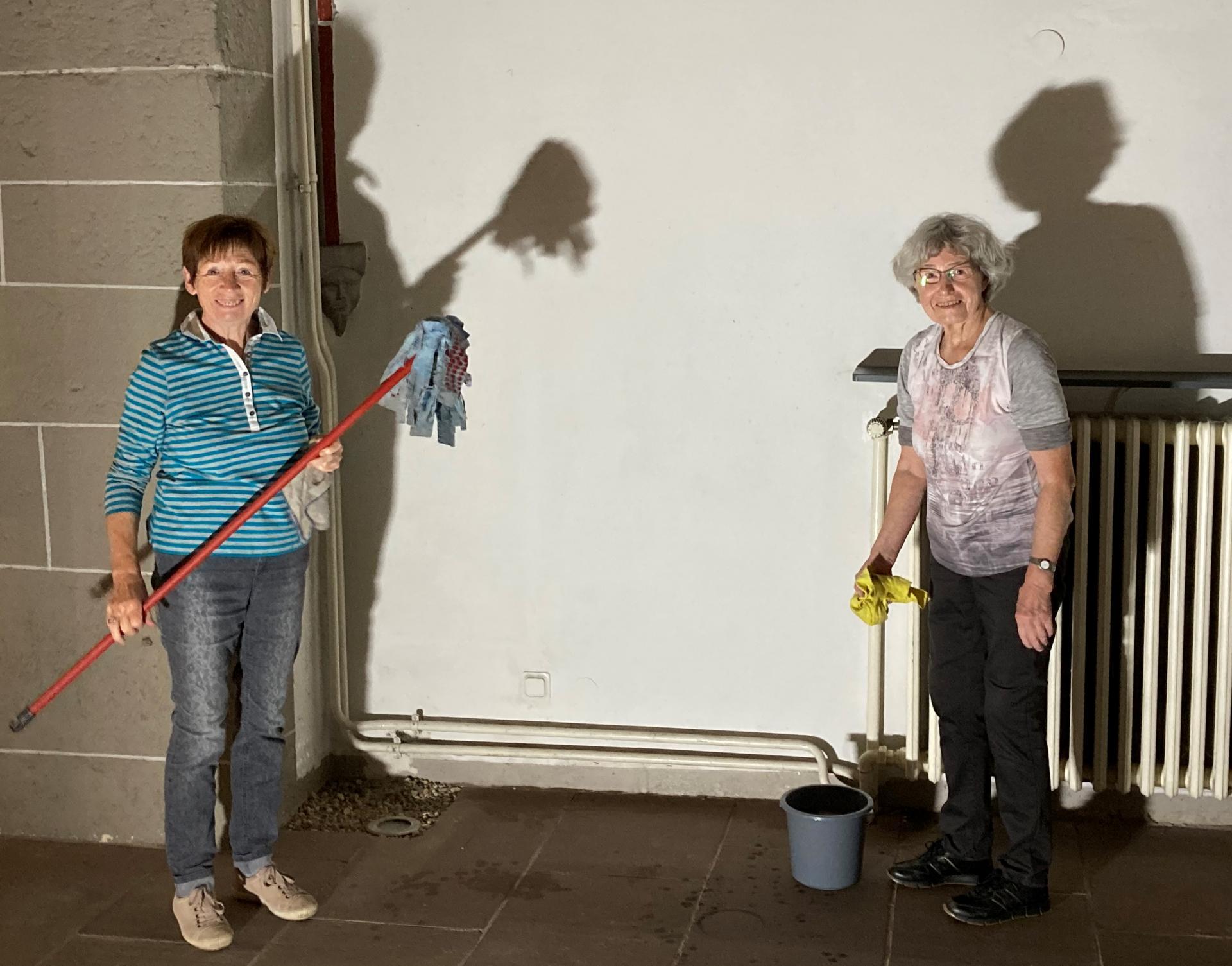 Schattenbilder der beiden Damen Borchardt & Samse