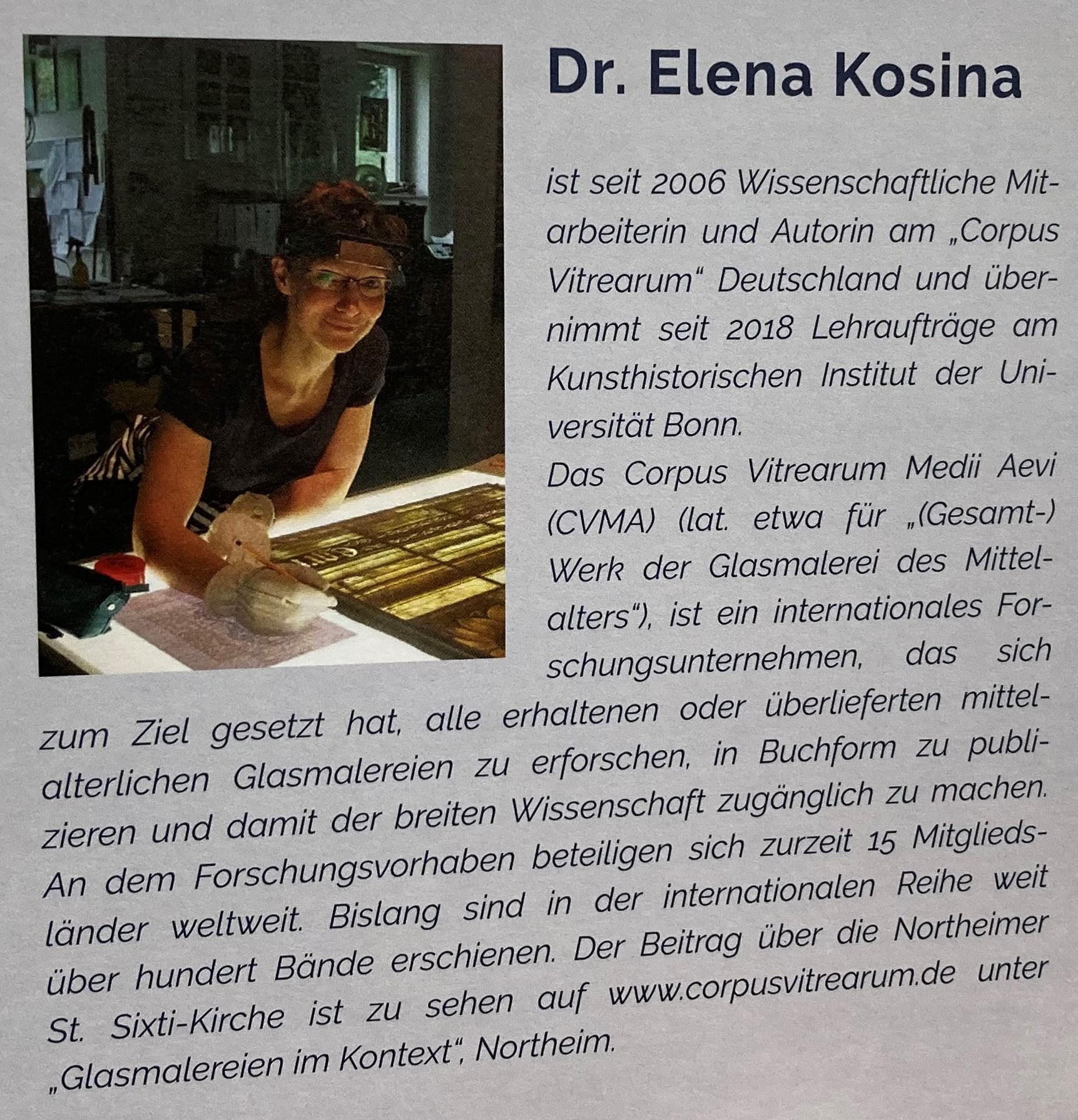 """Dr.Elene Kosina brachte 2011 """"den Stein ins Rollen"""