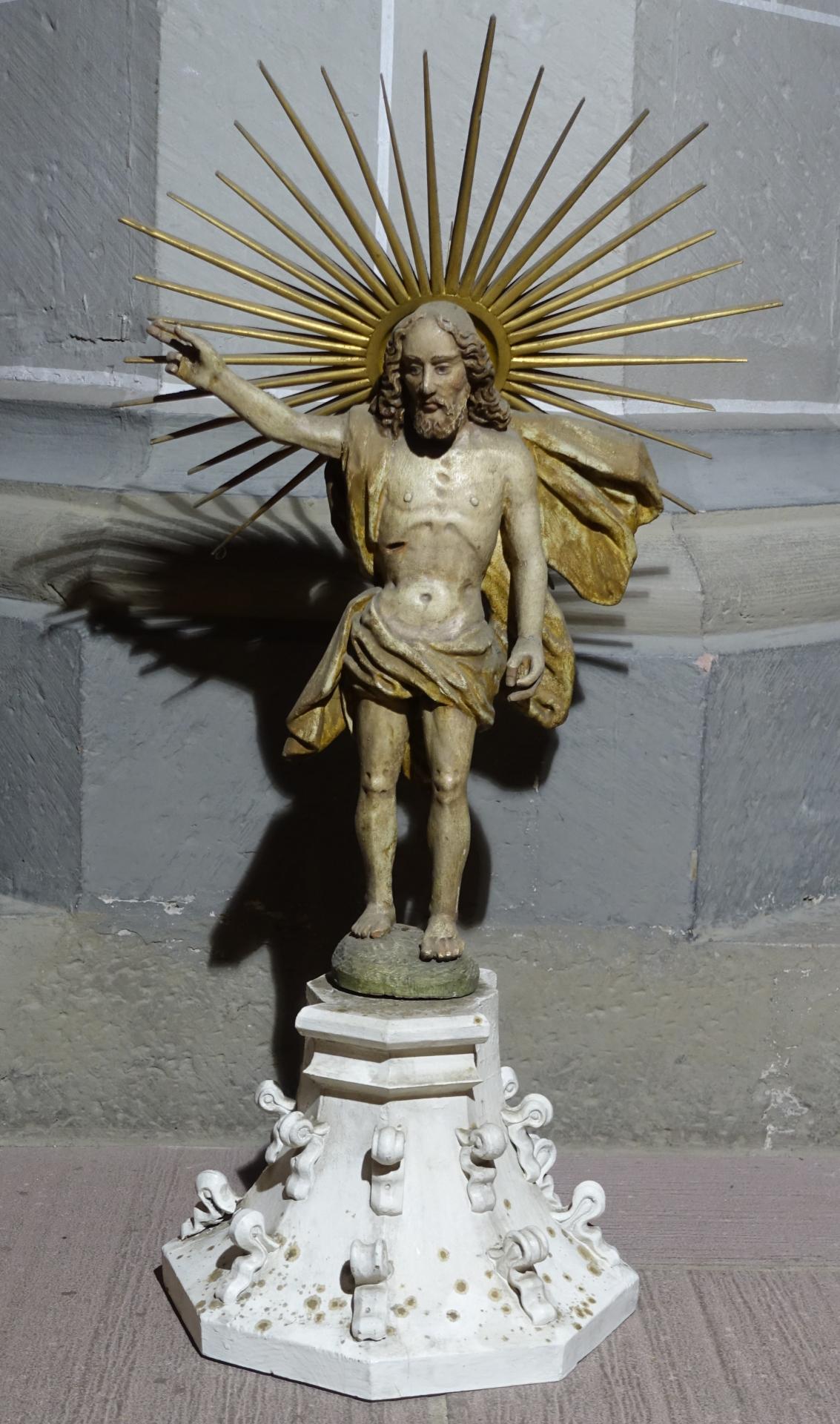 Der auferstandene Christus, am Boden einer Südsäule