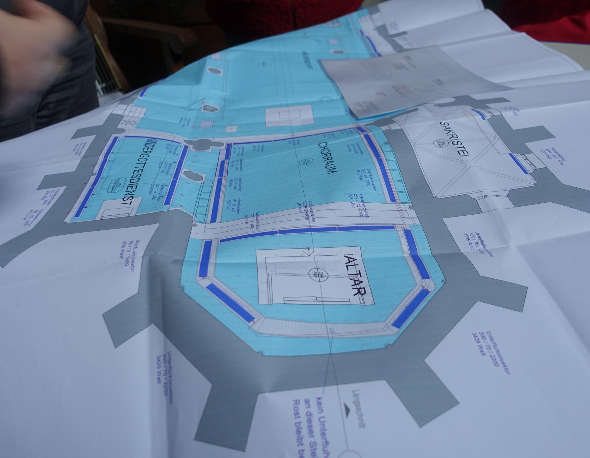 Plan der Flächenheizung von Lutz Baumann