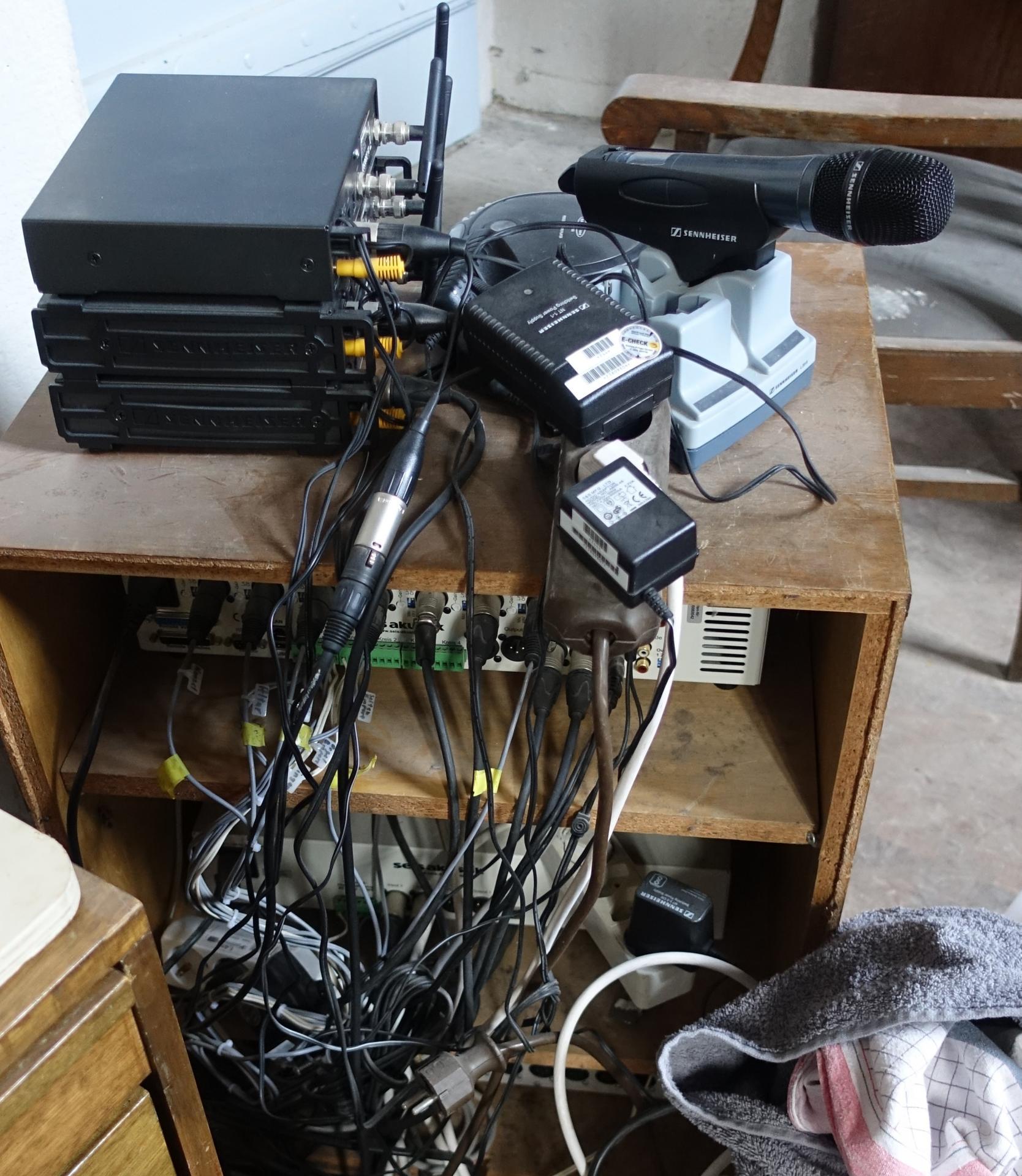 Bild 914 zeigt die aktuelle Mikrofonanlage