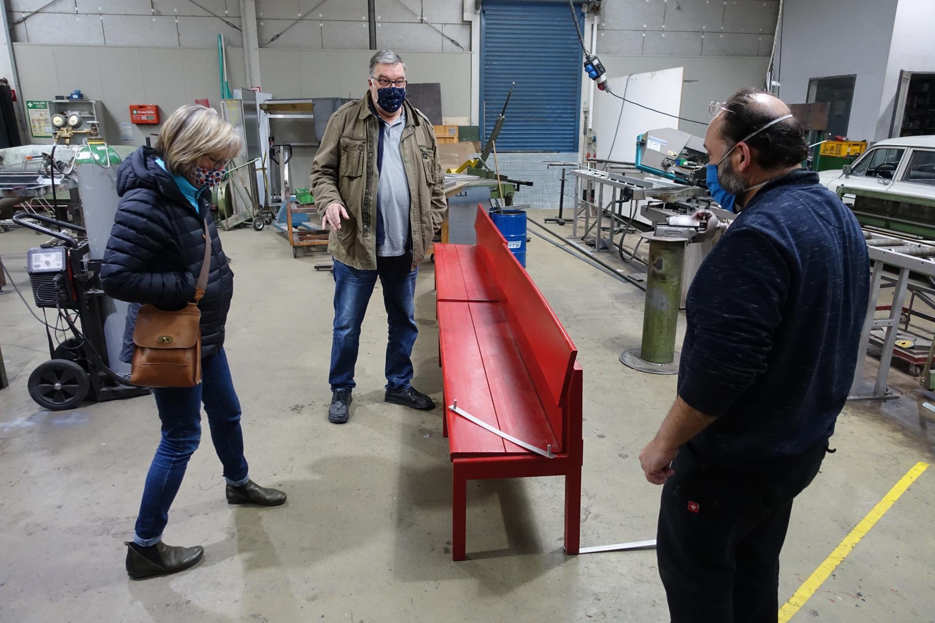 Bild 165 zeigt den Ortstermin in Göttingen mit meiner Frau, Frank Wagner und Martin Rojas, den Chefschlosser