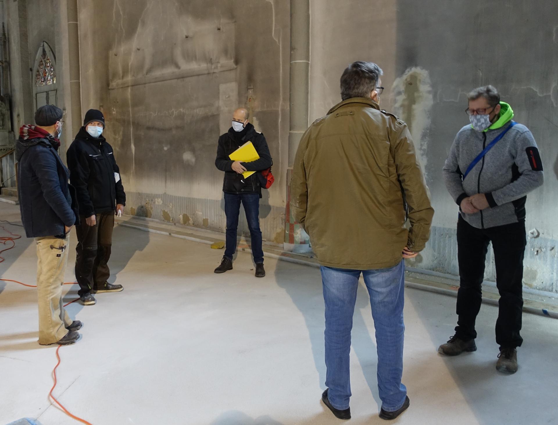 Bild 175 Ortstermin mit Matthias Fix, Bernd Alberding, Dirk Alberding, Jörg König (Tischlermeister) und Frank Wagner (ABK)