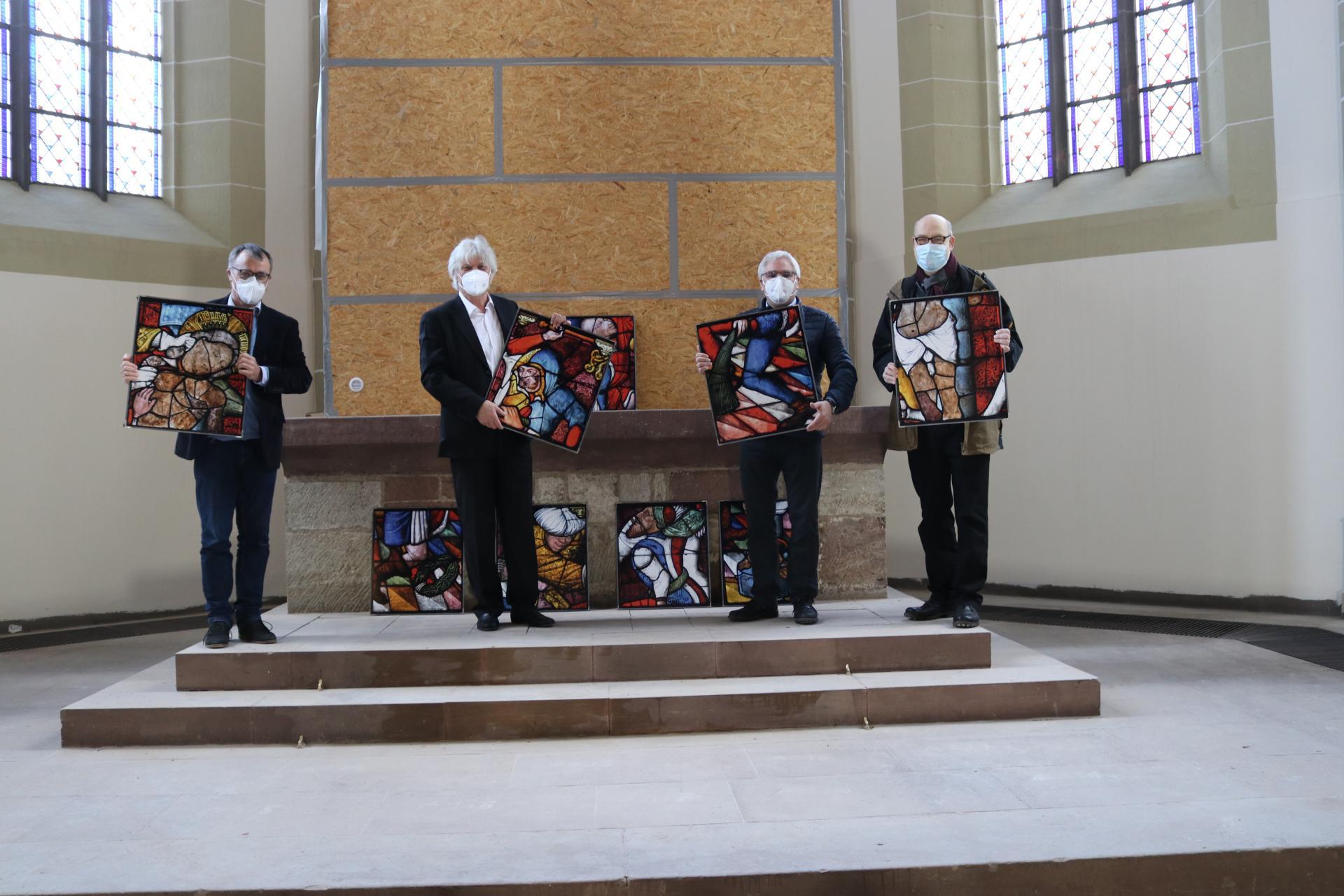 Die Pastoren des Ökumenischen Arbeitskreises Johannes Hilliges, René Lammer, Jan von Lingen und Andreas Pape (v.l.n.r.) Foto: Christian Steigertahl