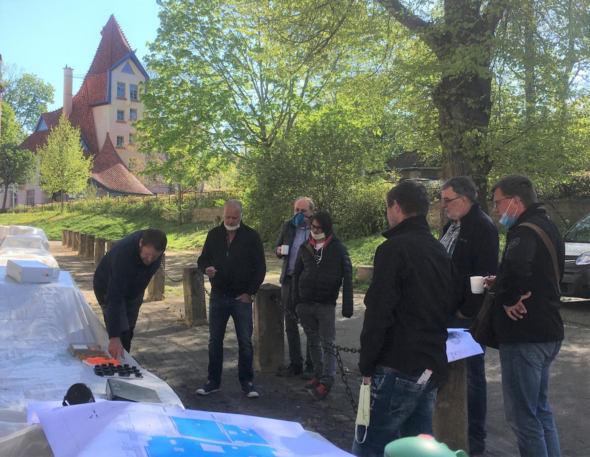 Ortstermin mit M.Kunde, J.Reinhardt, C.Steigertahl, Sohn Reinhardt, F.Wagner, M.Täubert und G.Jauch vom 22.04.20