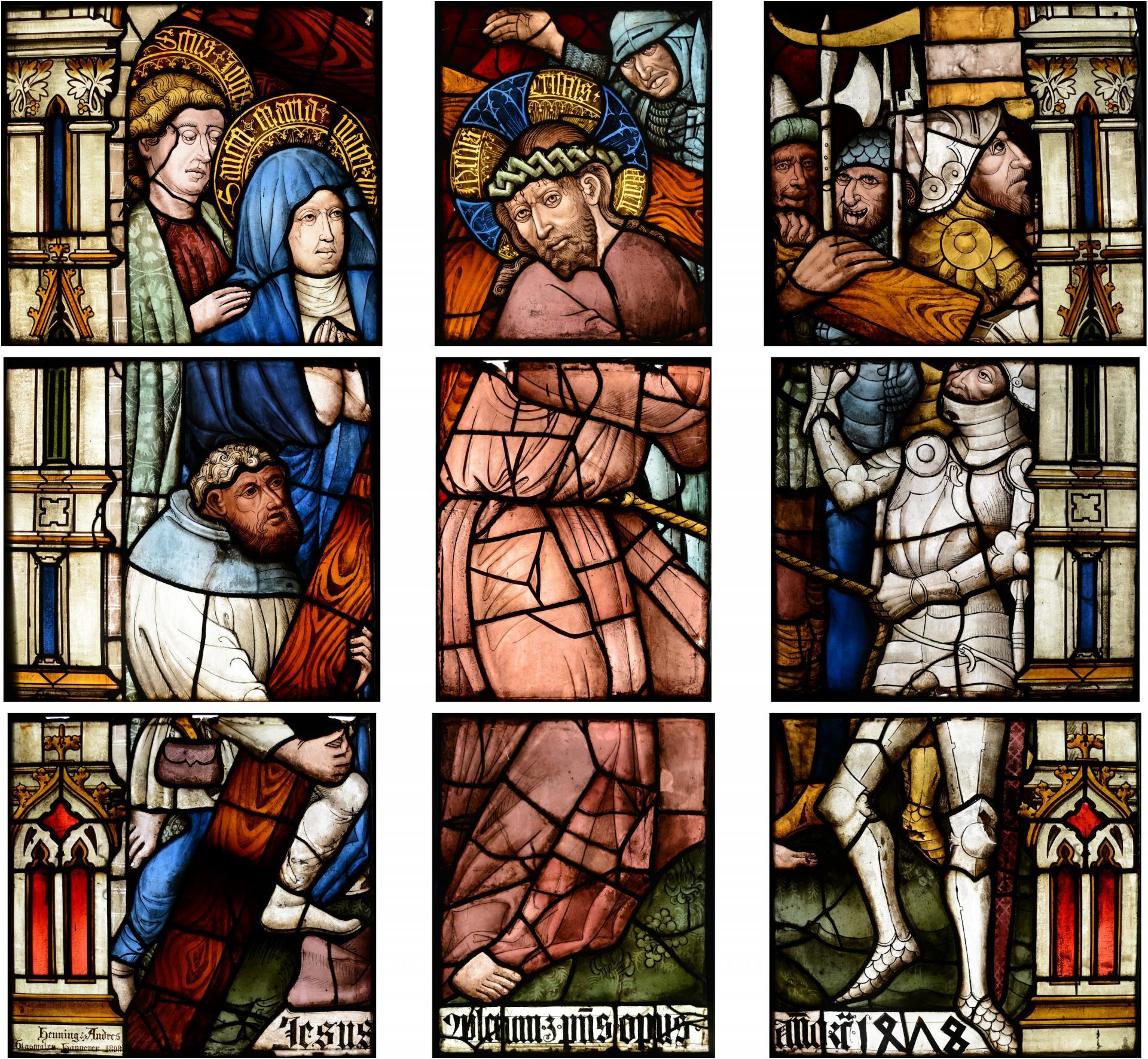 Passionsfenster Kreuztragung