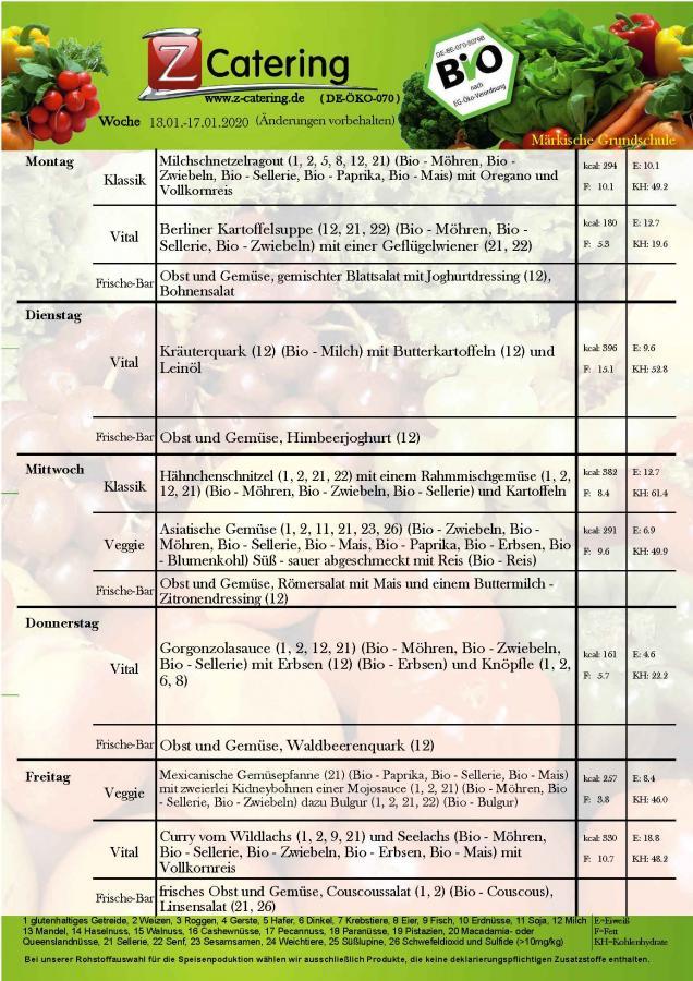 Speriseplan-3 Kalenderwoche 2020