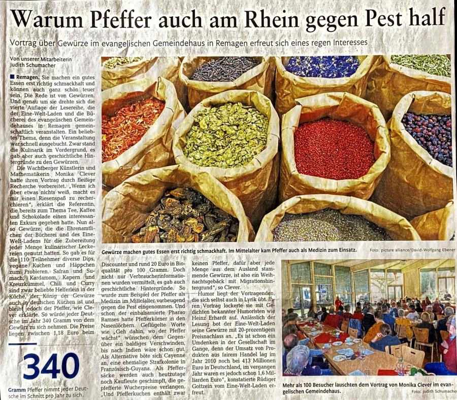 Artikel Rheinzeitung zur Gewürz-Lese