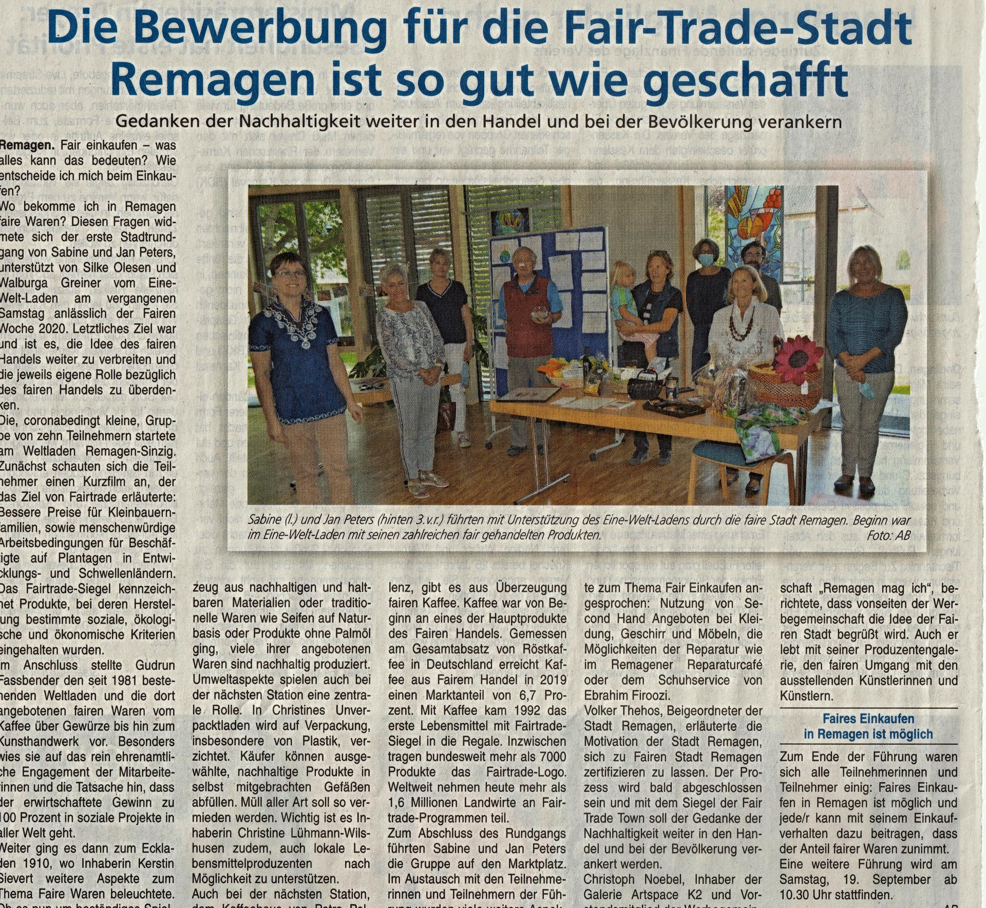 Fair-Trade-Stadt Remagen