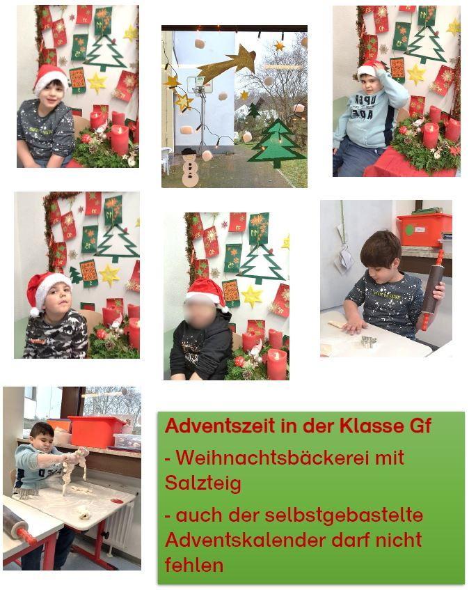 Adventszeit in Klasse Gf
