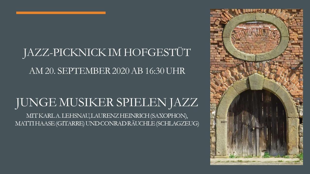 Plakat Jazz-Picknick neu