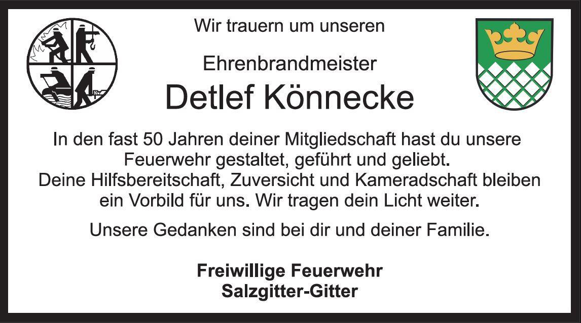 Nachruf Detlef Könnecke