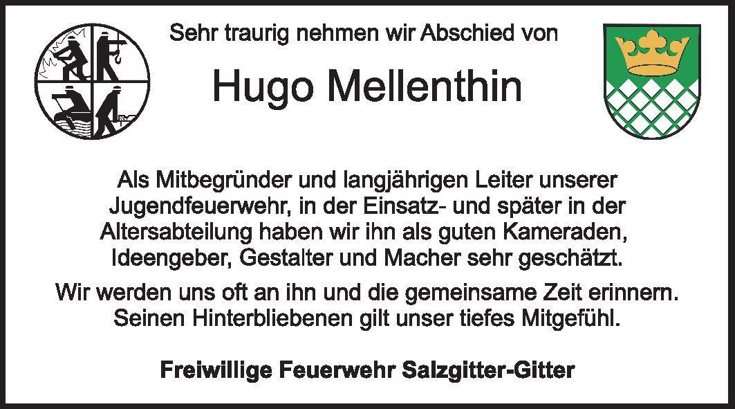 Nachruf Hugo Mellenthin