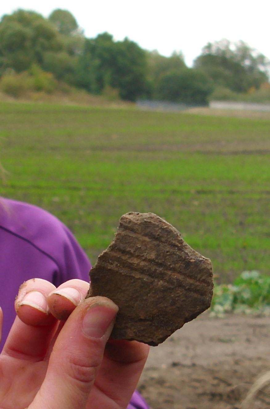 Erstes Fundstück der Jungen Archäologen
