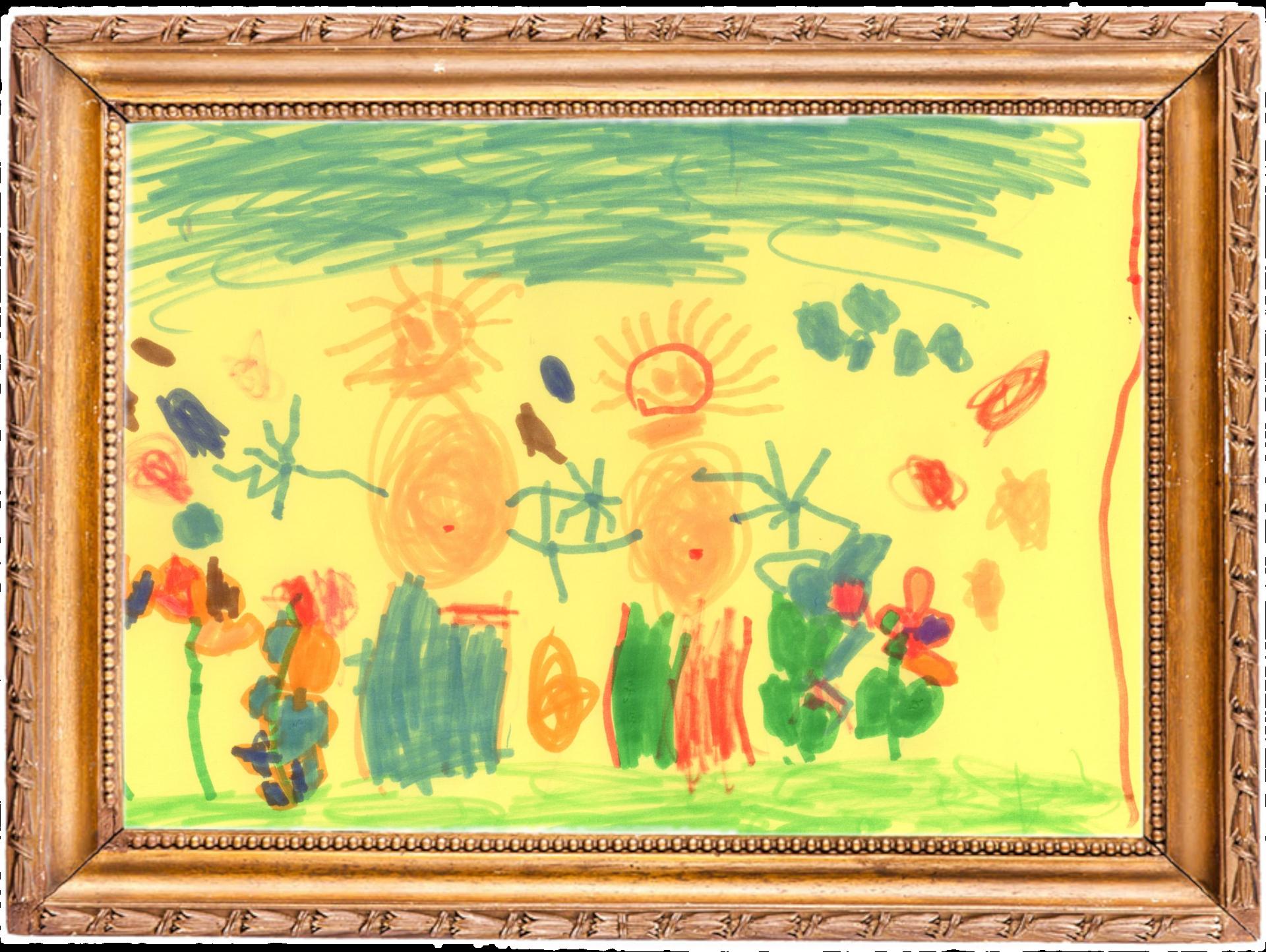 Kinder auf der Blumenwiese