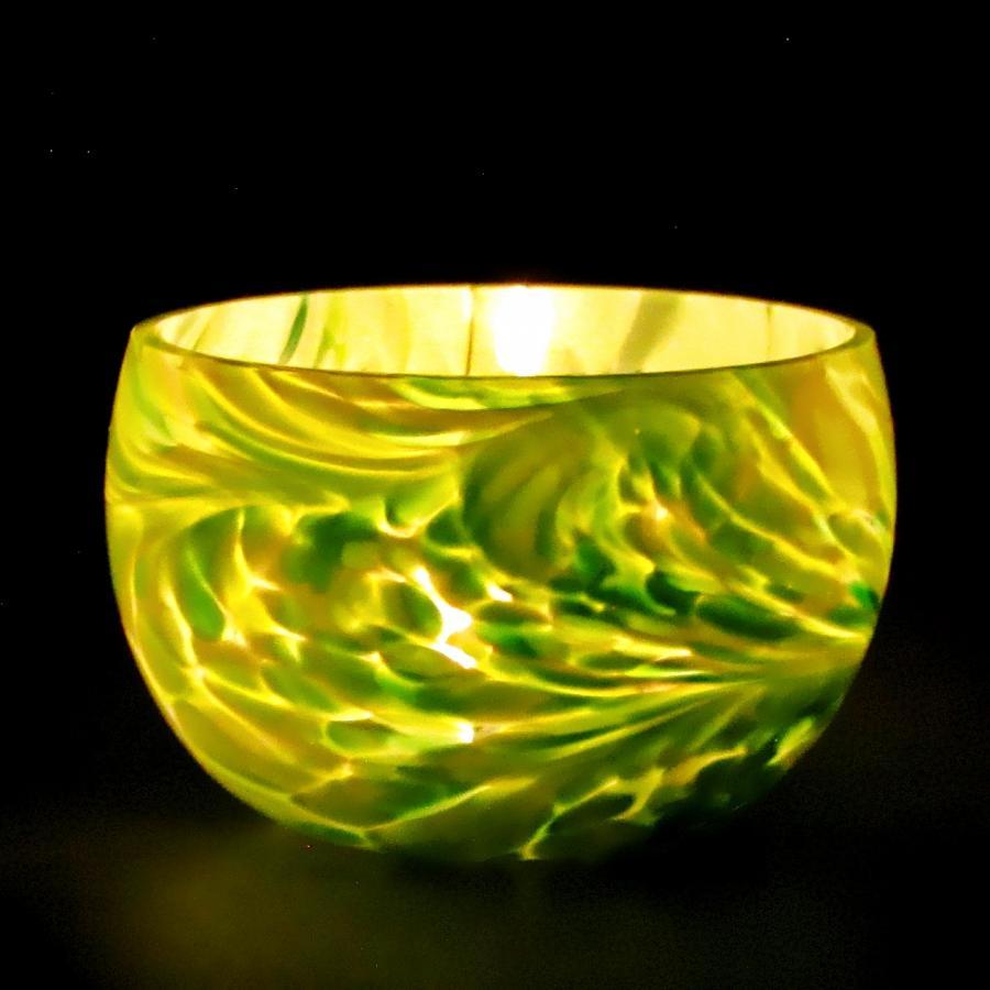 Fassteelicht Grünmischung im Dunkeln