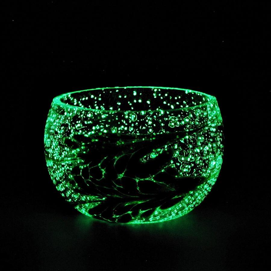 Teelicht Grün-Lumi Aventuringrün im dunkeln 1