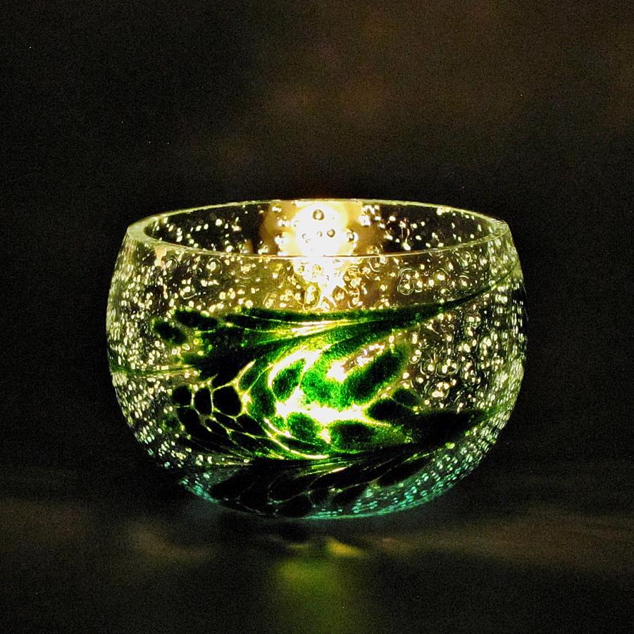Teelicht Grün-Lumi Aventuringrün im dunkeln 2